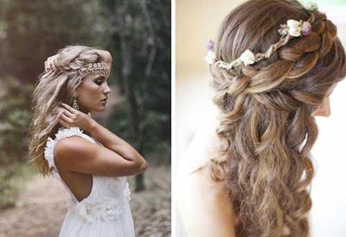 Estilos de pelo de trenzas largas de boda