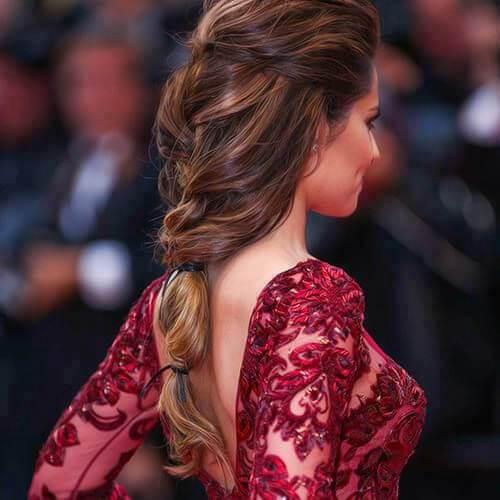 peinados de trenza de cheryl cole para cabello largo