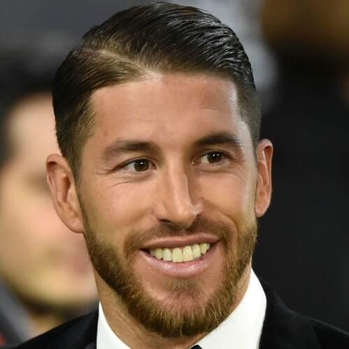 Corte de pelo Sergio Ramos con parte diagonal