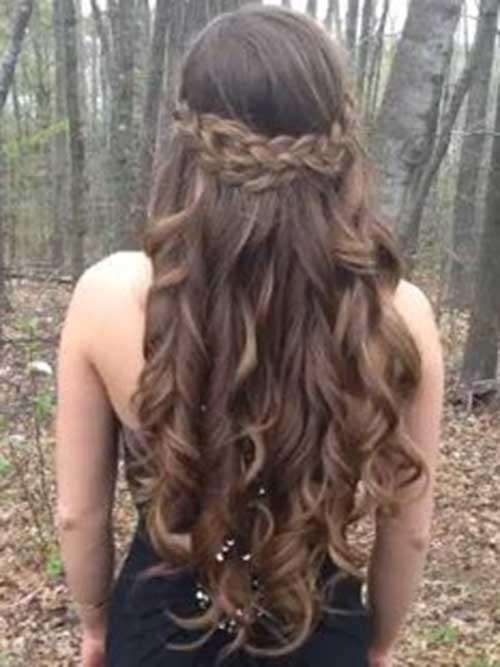 Trenzado niñas lindas peinados ondulados