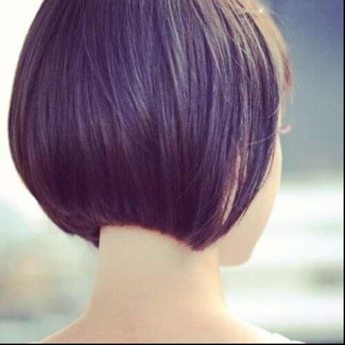 corte de pelo exacto del bob morado