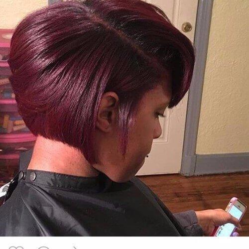 cabello color borgoña