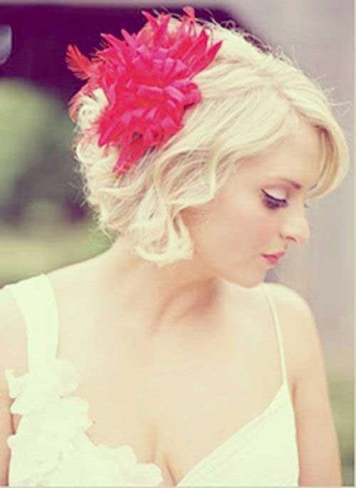 Funky peinados de novia para el pelo corto