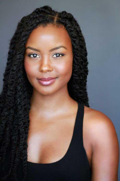 Mujeres negras peinados largos 2018