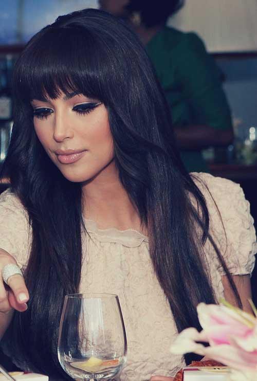 Peinados de celebridades con flequillo