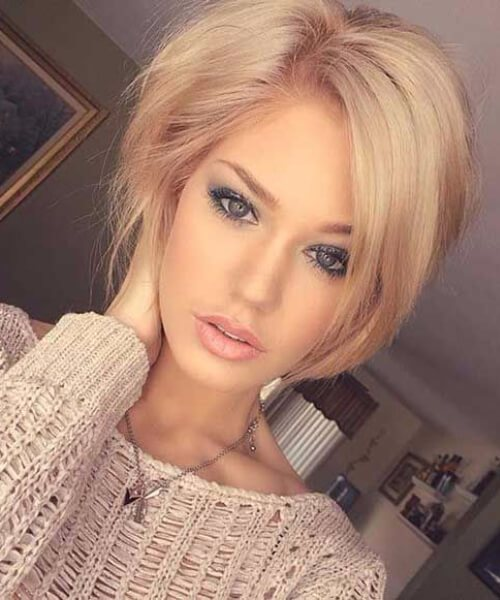 cabello rubio corto dorado