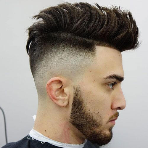 Faux Hawk Temp Fade corte de pelo