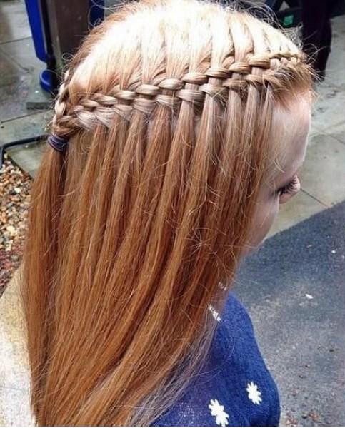 Peinados de niña pequeña de Five Strands Waterfall