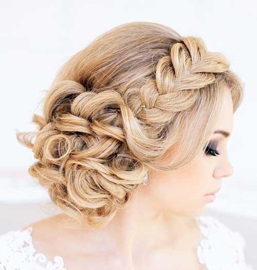 Trenzado updo pelo de la boda