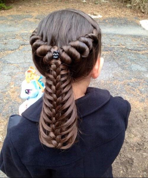 Peinados princesa niña