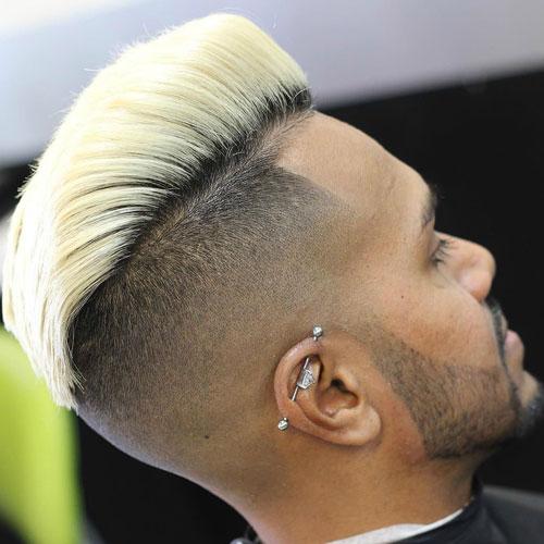 peinados de pompas rubias para hombres