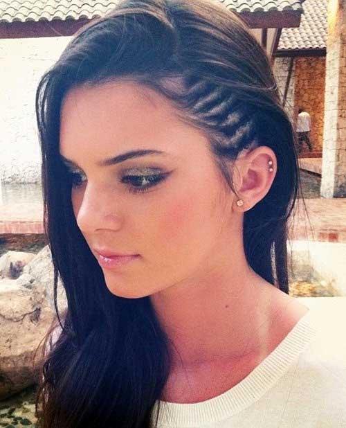 Peinados trenzados con cortes de pelo largos
