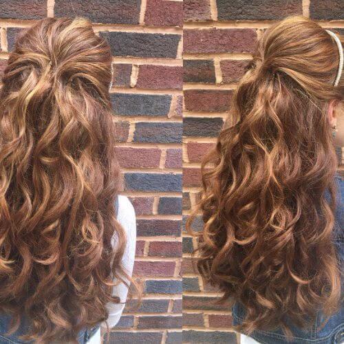 pelo largo niñas peinados