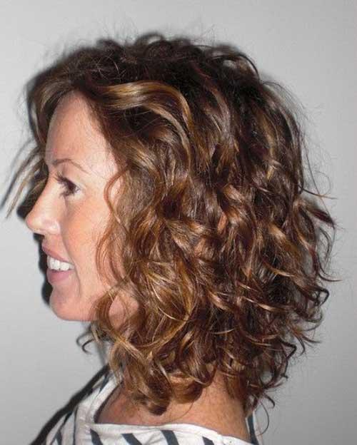 Peinados resaltados rizados