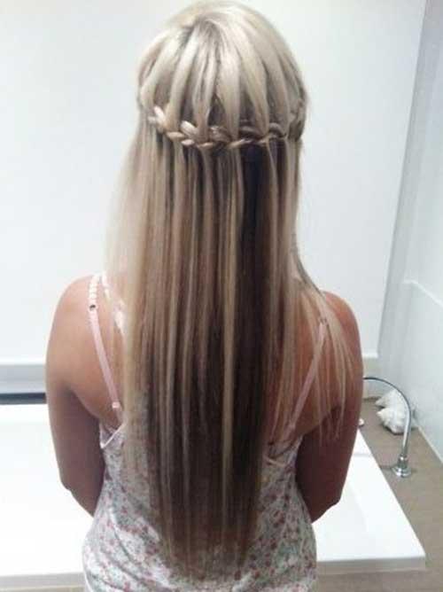 Braid Half Updo Long Hair Styles