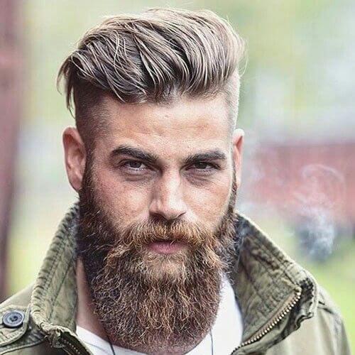 Peinado recortado resistente para hombres
