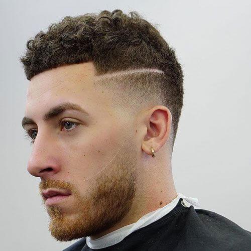 Shaved Line Temp Fade corte de pelo
