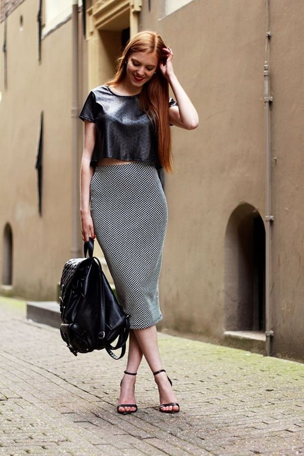 trajes de falda lápiz 21