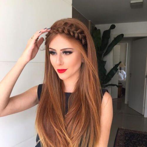 Peinados con trenza para cabello largo