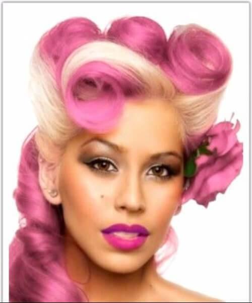 peinados rosas y marfil