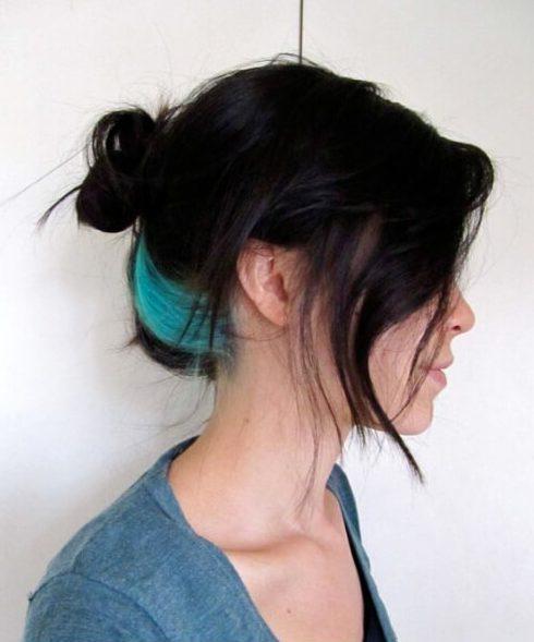 color de pelo verde azulado