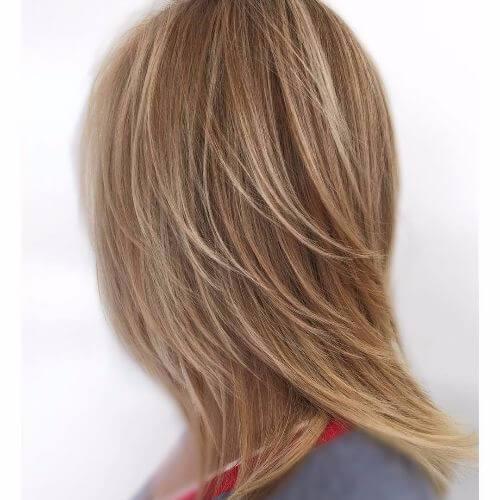 reflejos rubios en cabello castaño claro ceniza