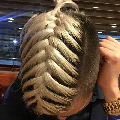 Peinados rubios trenzados