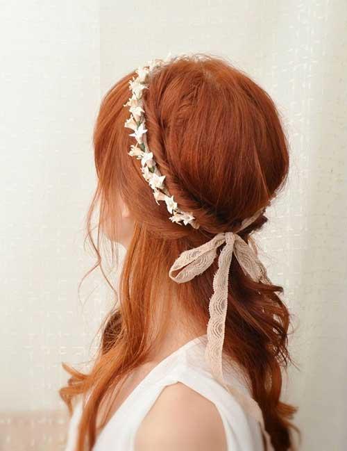 La mejor corona de flores para la boda