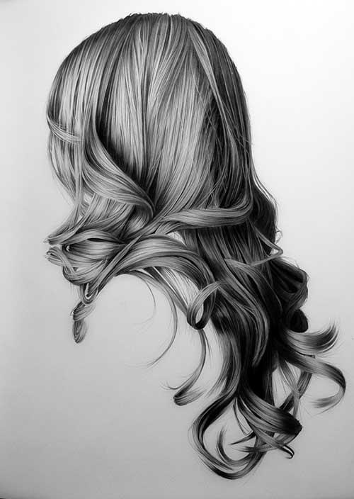 Idea de onda para cabello largo