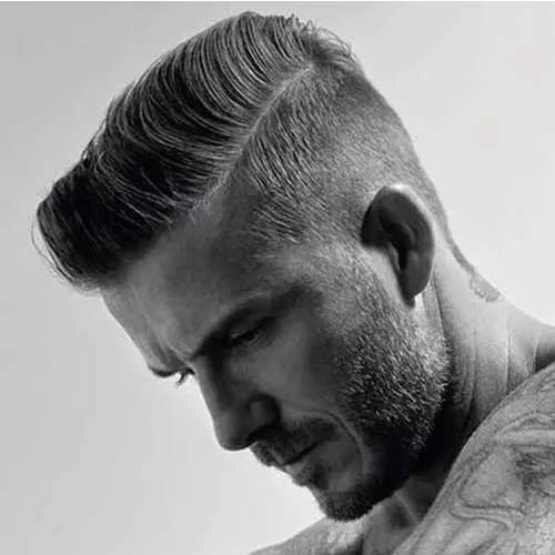 Peinados planos de David Beckham
