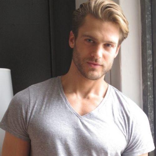 peinados ocasionales peinados espalda recta de longitud media para hombres