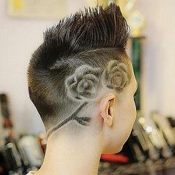 15020216-lado afeitado-estilo de pelo
