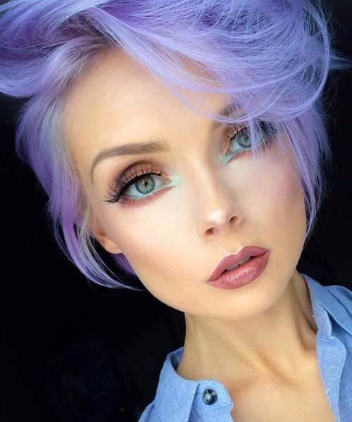peinados de duende morado para cabello fino