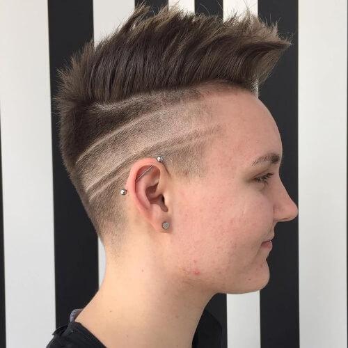 Diseño creativo afeitado
