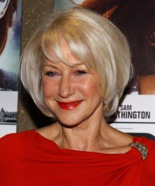 helen mirren hairstyles para mujeres mayores de 40 años