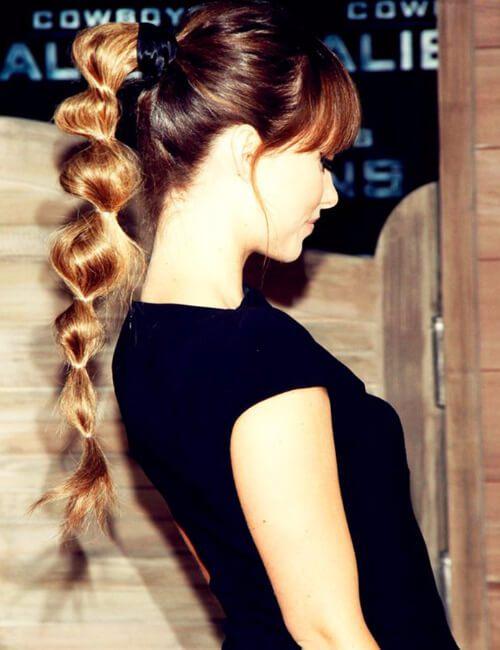 trenza de burbuja olivia wilde hairdos para cabello largo