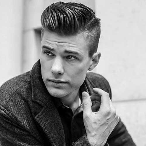 peinados de pomp partida para los hombres