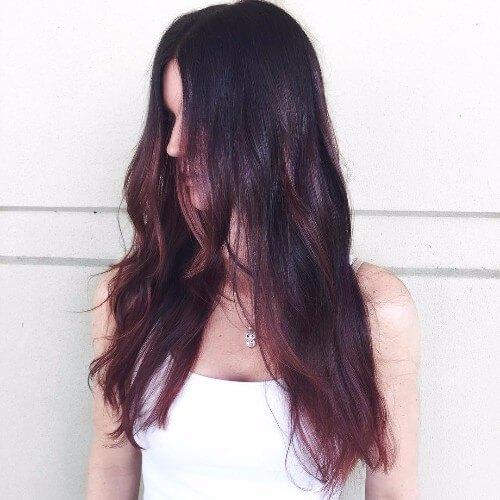 reflejos rojos cabello castaño
