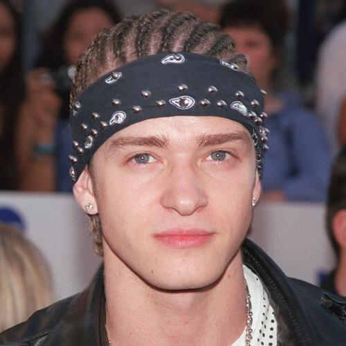 Justin Timberlake peinados con mazorcas