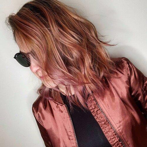Balayage tonos de pelo rojo