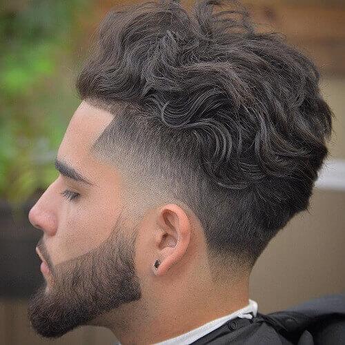 Wavy Taper Fade corte de pelo