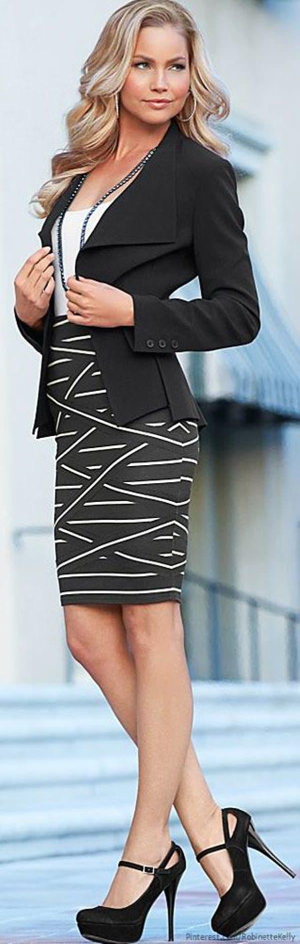 trajes de falda lápiz 36