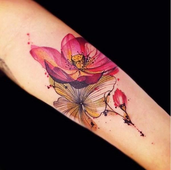 Cool Lotus Tattoo Design.