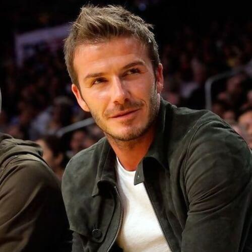 Fringe angular David Beckham Peinados
