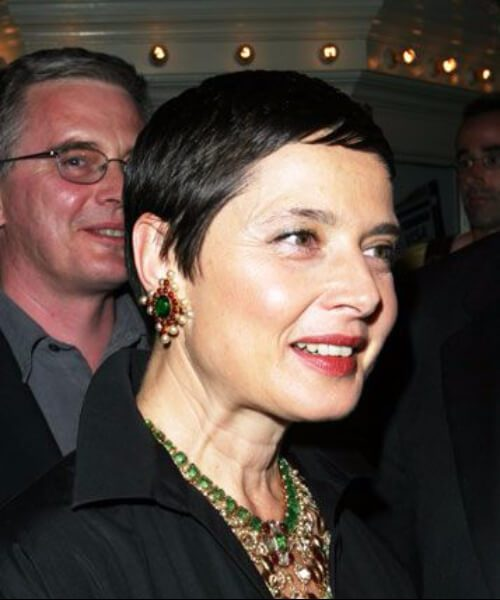 Peinados de Isabella Rossellini para mujeres mayores de 60 años