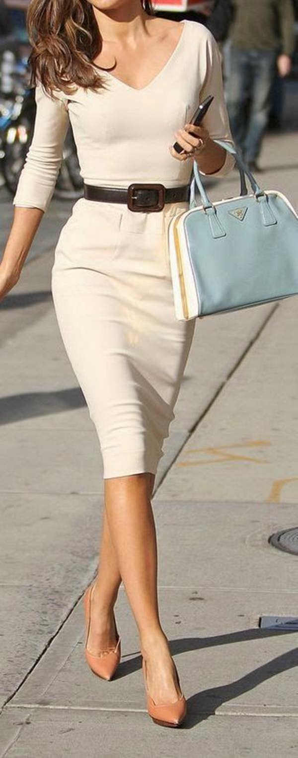 trajes de falda lápiz 15