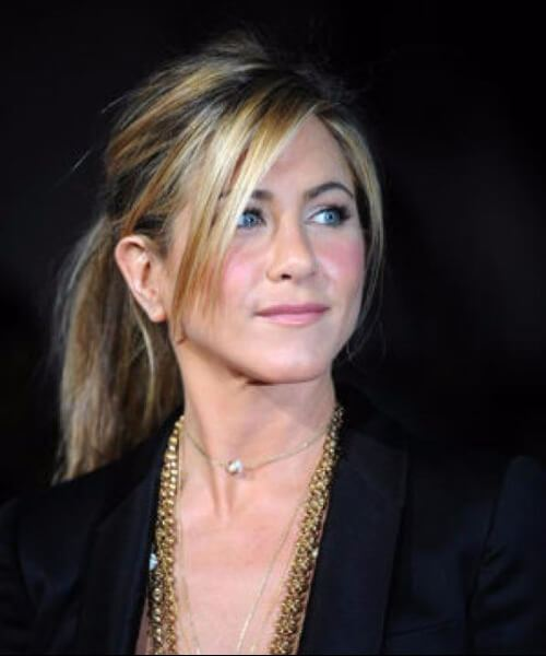 peinados aniston jennifer con flequillo