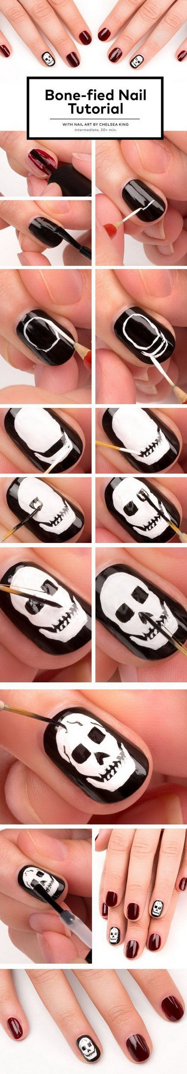 Spooky y lindo Halloween Nail Art.