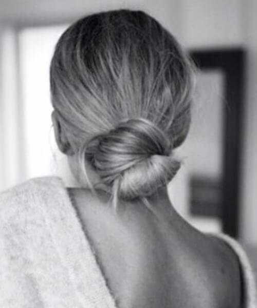 peinados largos simples de baja bollo perfección