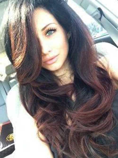 Peinados largos marrones oscuros-28